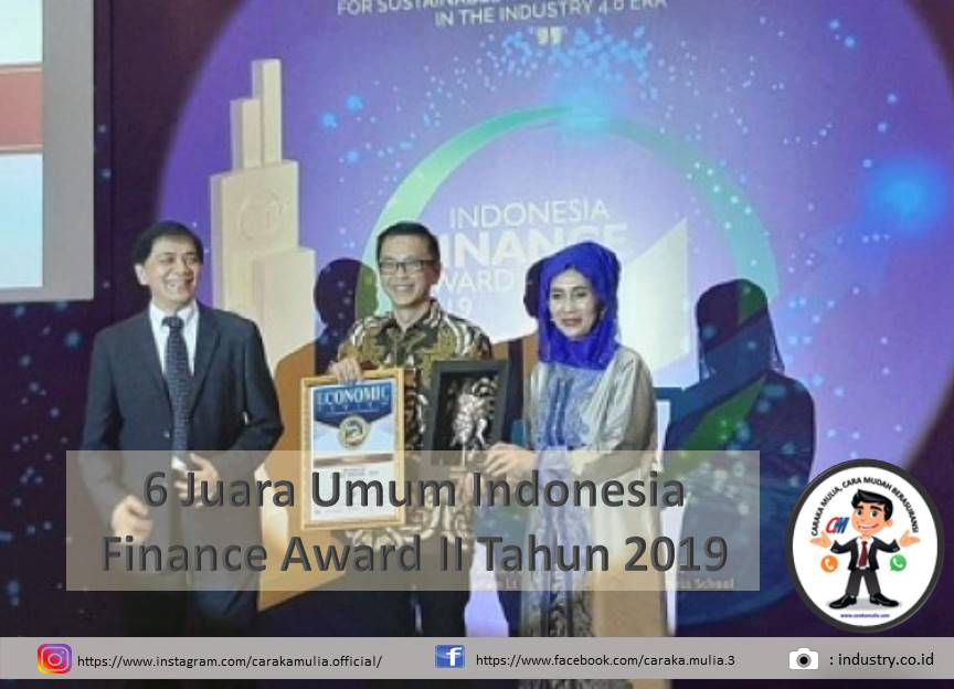 6 Juara umum Indonesia Finance Award II 2019