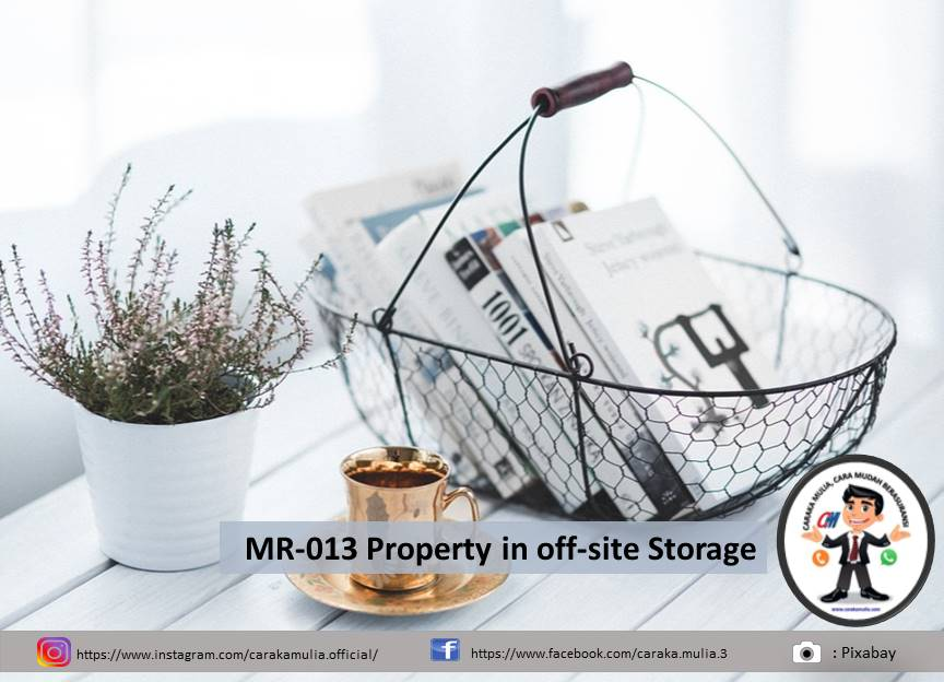 MR-013 Property in off-site Storage