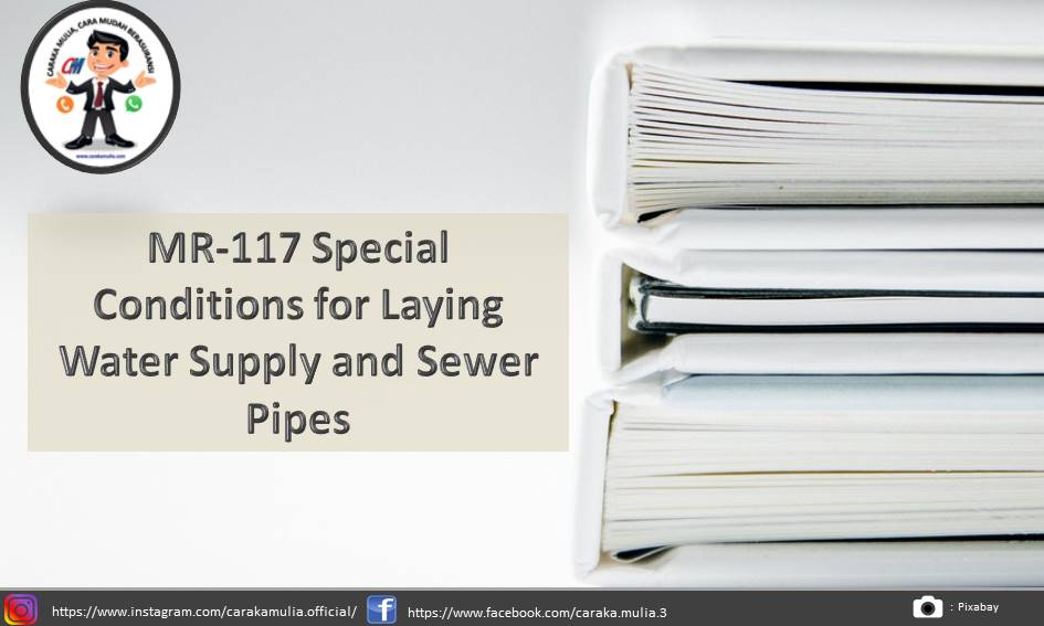 MR-117 Special Conditions for Laying Water Supply and Sewer Pipes