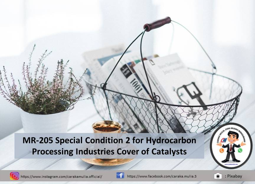 MR-205 Special Condition 2 for Hydrocarbon Processing Industries Cover of Catalysts