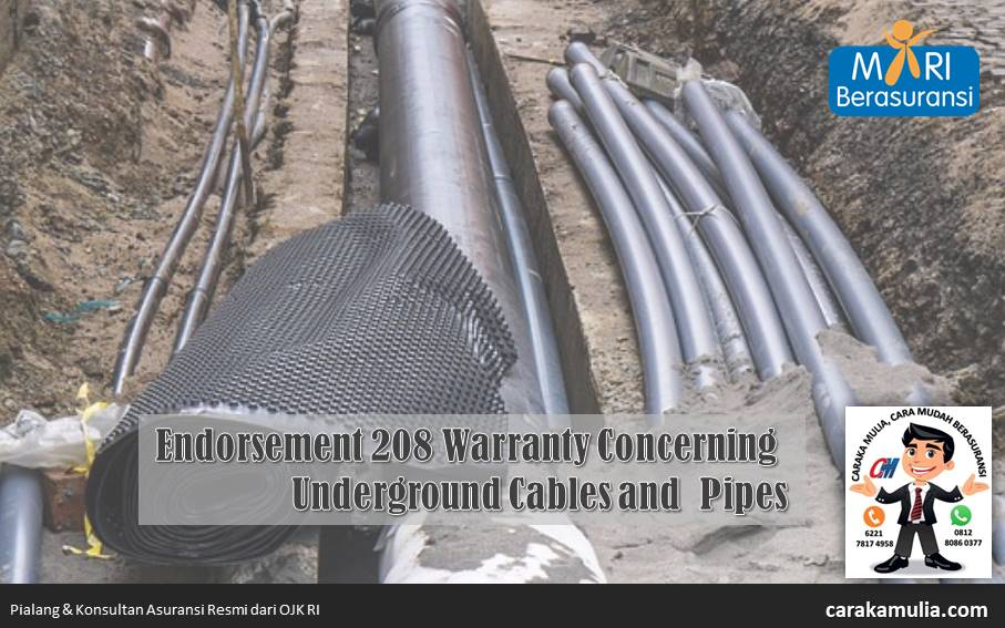 MR-208 Warranty Concerning Underground Cables and Pipes